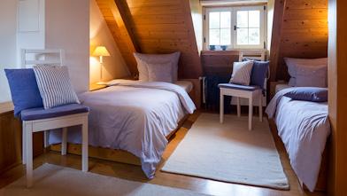 Gästehäuser Am Seeschlössel Schlafzimmer Unter Dem Dach